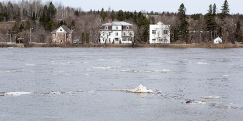 Floodwaters in Perth-Andover